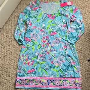 Lily Pulitzer Beacon Dress in Bali Blue Size L